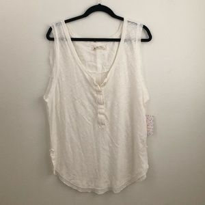 Free People off white tank - XL